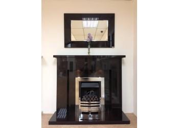 Bedrock Black Granite Fireplace