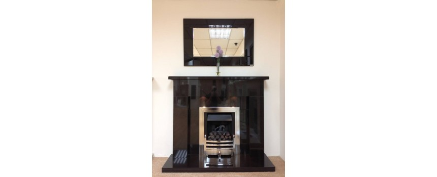 Bedrock Black Granite Fireplace