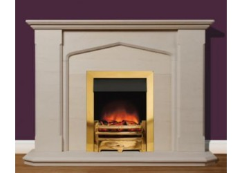 Lincolnshire Natural Portuguese Limestone Fireplace