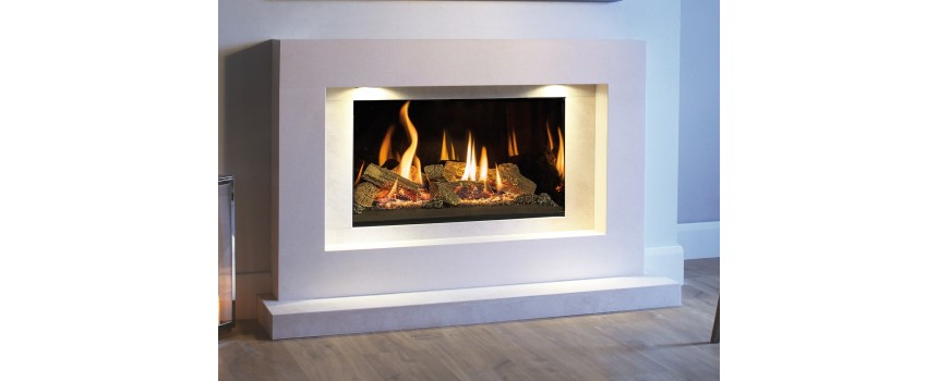 Medium Azure Landscape Infinity Gas Fire