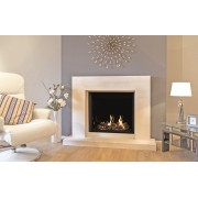 Medium Azure Square Gas Fire