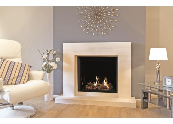 Medium Azure Square Infinity Gas Fire