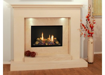 Sicily Natural Stone Fireplace