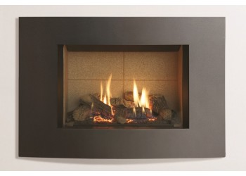 Small Azure Curved Gas Fire