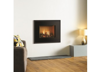 Small Azure Duo Glass Gas Fire