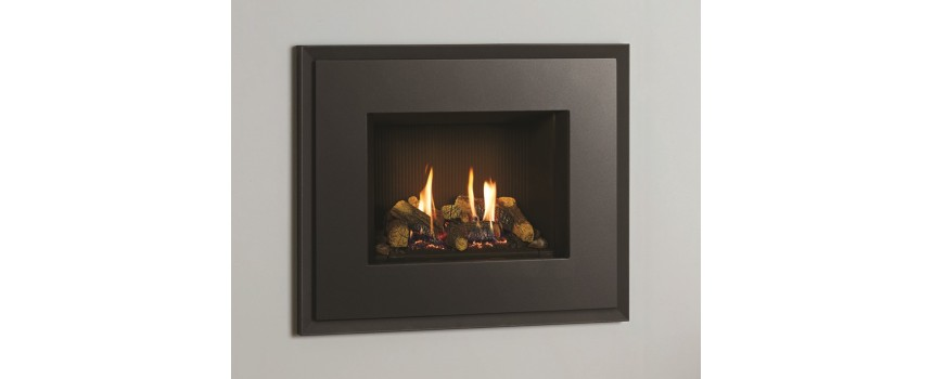 Small Azure Duo Satin Gas Fire