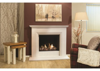Large Azure Square Infinity Gas Fire