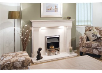 Eggerton Natural Portuguese Lime Stone Fireplace