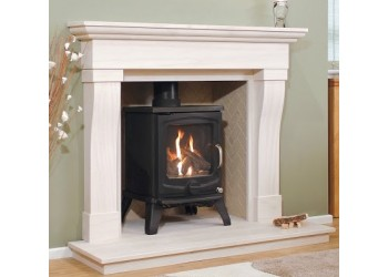 Senator Natural Portuguese Lime Stone Fireplace