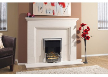 Pinnical Natural Portuguese Lime Stone Fireplace