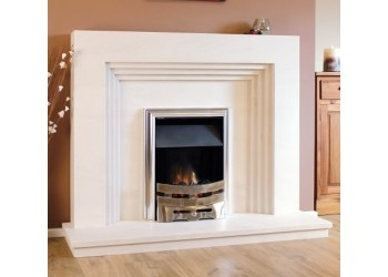 Concertina Natural Portuguese Lime Stone Fireplace