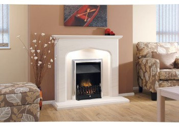 Sienna Gothic Natural Portuguese Lime Stone Fireplace