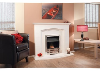 Rigby Natural Portuguese Lime Stone Fireplace
