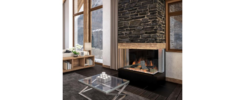 Optic Square Electric Fire