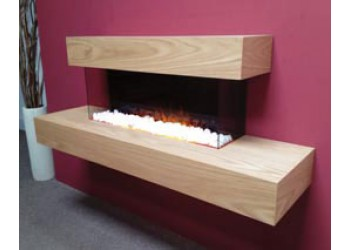 Partequal Contemporary Hang on The Wall Electric Fire