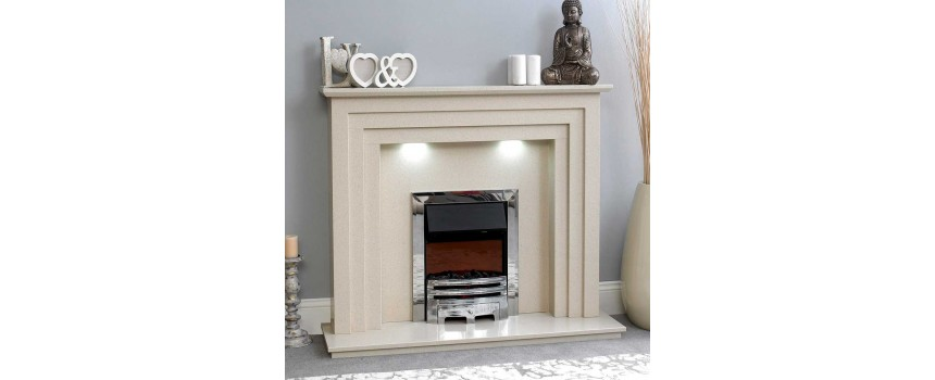 Trio Marble Fireplace