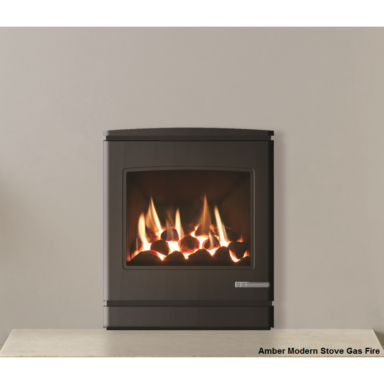 Amber Modern Stove Gas Fire