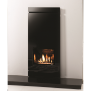 Large Icon Black Glass Gas Fire
