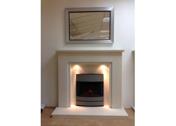 Highgrove Marble Fireplace with Sparkle Inlay