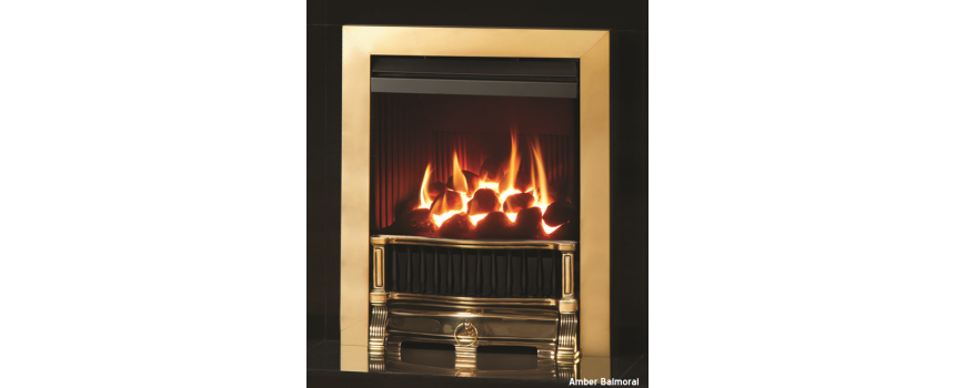 Amber Balmoral Gas Fire