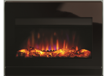 Matrix Ludo Black Glass Electric Fire