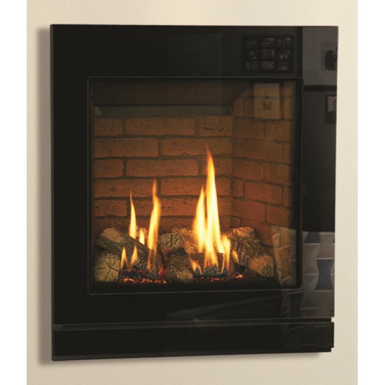 matrix icon black glass gas fires