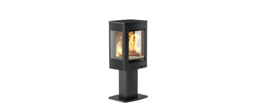 Continental 4 Wood Burning Stove with Pedestal
