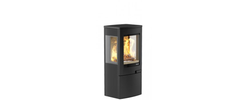 Continental 4 Wood Burning Stove with Log Store