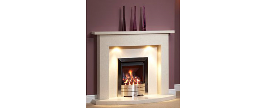Curve Marble Fireplace