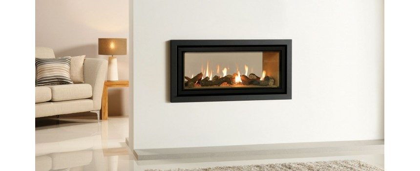 Slice Gas Fire Double Sided (Balanced Flue)