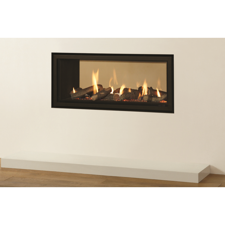 slice gas fire double sided balanced flue