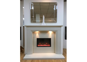 Ramona Arched Marble Fireplace