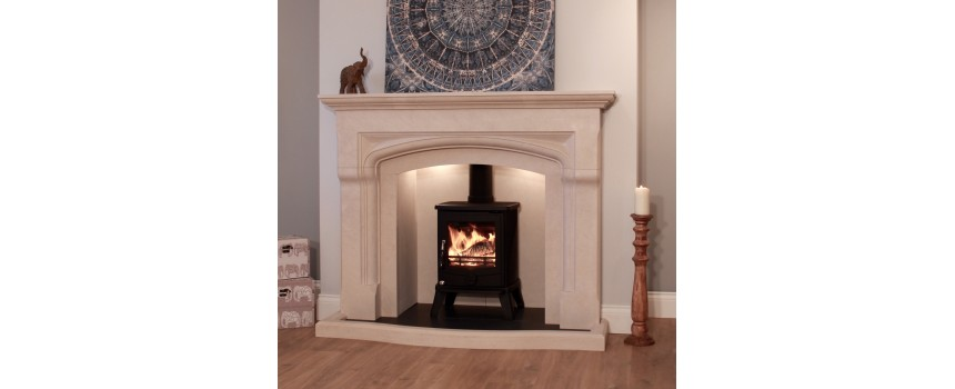 Dumbledore Curved Natural Stone Fireplace