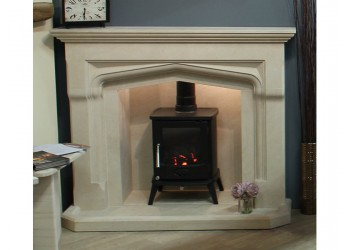 Dumbledore Gothic Natural Stone Fireplace