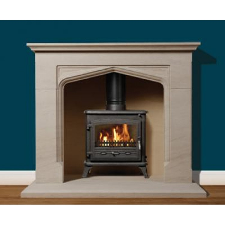 Priory Natural Portuguese Limestone Fireplace