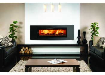 Slice Large Curve Trim Inset Woodburning Stove