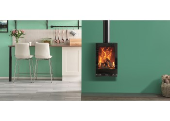 Vision Midi T Wall Hung Wood Burning and Multifuel Stove