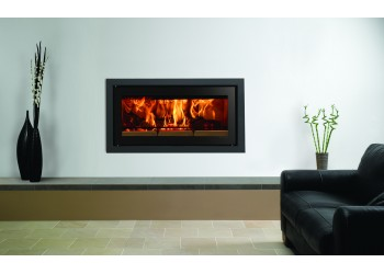 Slice Inset Woodburning Stove with Small Trim