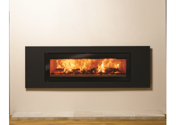 Slice Large Flat Trim Inset Wood Burning Stove