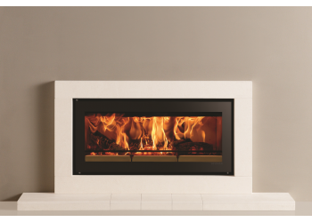 Slice Inset Wood burning Stove with Slender Fireplace