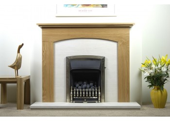 Elizabeth Natural Oak Fireplace