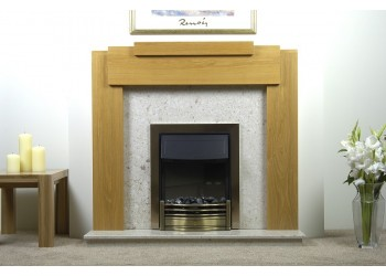 Jade Natural Oak Fireplace