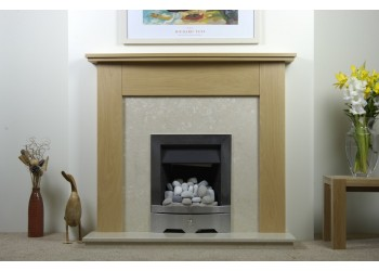 Mary-Kate Natural Oak Fireplace