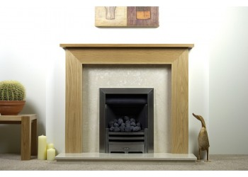 Mayfair Natural Oak Fireplace