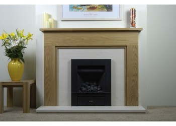 Monica Natural Oak Fireplace