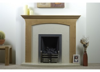 Neve Natural Oak Fireplace