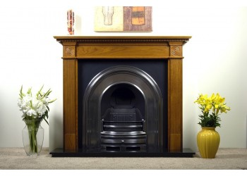 Randell Natural Oak Fireplace