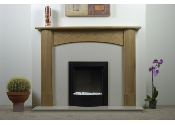 Rihanna Natural Oak Fireplace