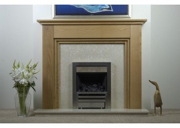 Tasha Natural Oak Fireplace