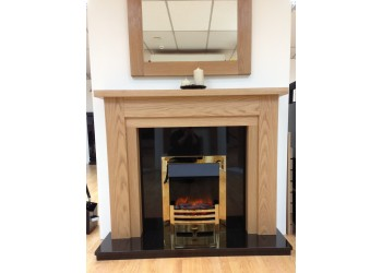 Milan Natural Oak Fireplace